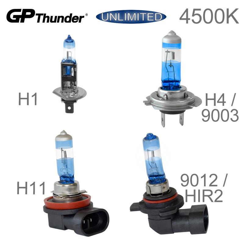 Gp Thunder 4500k Unlimited Bright White Bulbs 12v H1 H7 H11 9012 Hir2 New Ebay